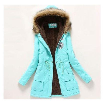 Dámská zimní bunda Jane - Mentolová-L - dodání do 2 dnů