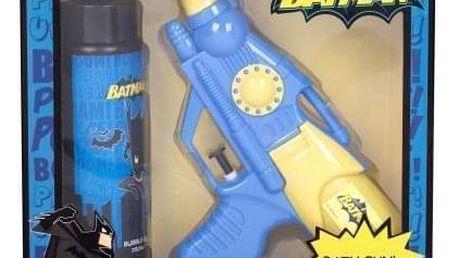 DC Comics Batman dárková kazeta pro děti pěna do koupele 250 ml + vodní pistol 1 ks