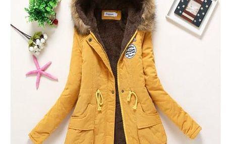 Dámská zimní bunda Jane - Žlutá-velikost č. XL - dodání do 2 dnů