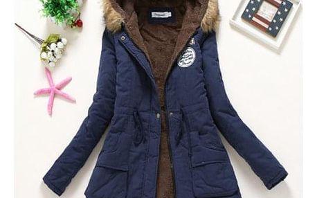 Dámská zimní bunda Jane - Tmavě modrá-velikost č. M - dodání do 2 dnů