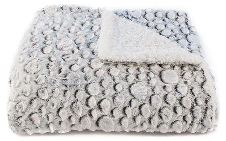 BO-MA Trading Beránková deka Petra šedá, 150 x 200 cm