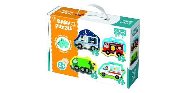 Puzzle TREFL Baby Dopravní prostředky 4v1 3 4 5 a 6 dílků