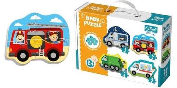 Puzzle TREFL Baby Dopravní prostředky 4v1 3 4 5 a 6 dílků2
