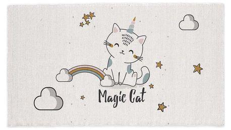 TODAY TODAY KIDS bavlněný koberec Magic Cat 60x120 cm
