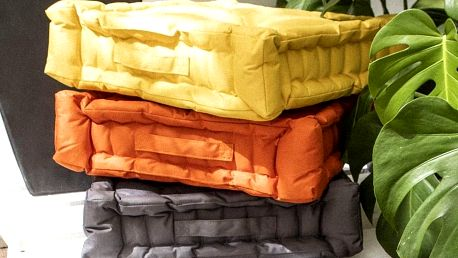 TODAY TODAY GARDEN SPIRIT podsedák na zem 40x40x10 cm Ceylon Yellow - žlutá