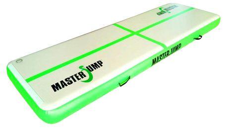 Airtrack MASTERJUMP nafukovací žíněnka 400 x 100 x 20 cm - zelená