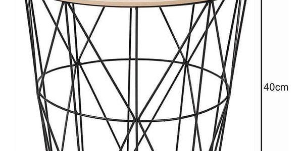 Tempo Kondela Příruční stolek Nancer 1, přírodní3