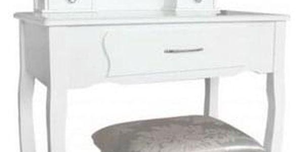 Toaletní stolek s taburetem Sofia,135 x 71 x 40 cm2