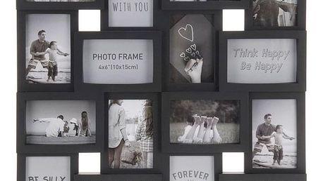 Home collection Rám na 16 fotek 56,5x56,5cm černá