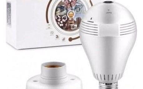 Panoramatická 360° LED žárovka s IP kamerou