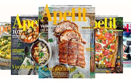 Roční předplatné časopisu Apetit s bonusy