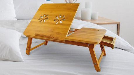 Celodřevěný stolek na notebook do postele