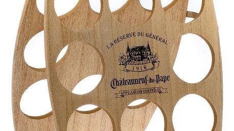 Dřevěný stojan na 8 láhví vína, 30 x 38 x 1,8 cm