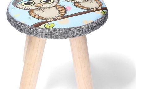 Dětská stolička Sova, 28 x 28 x 28 cm