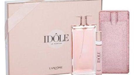 Lancôme Idôle dárková kazeta pro ženy parfémovaná voda 75 ml + parfémovaná voda 10 ml + pouzdro na parfém