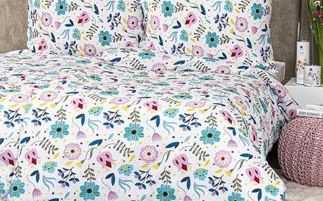 4Home Krepové povlečení Flowers, 140 x 220 cm, 70 x 90 cm