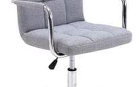 Kancelářské křeslo Q-022 světle šedé