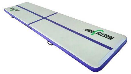 Airtrack MASTERJUMP nafukovací žíněnka 400 x 100 x 10 cm - fialová