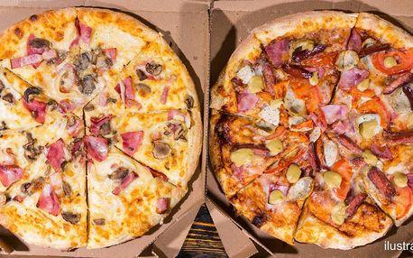 2 pizzy s rozvozem či s sebou: 16 druhů, ø 30 cm