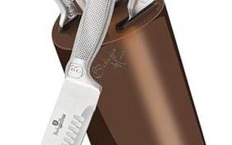 Berlinger Haus 7dílná sada nožů ve stojanu Rose Gold Metallic Line