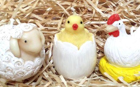 Ručně vyráběné a malované velikonoční svíčky