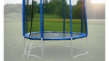 Ochranná síť na trampolínu 244 cm (250 cm) -PVC -na 6 trubek- modrá