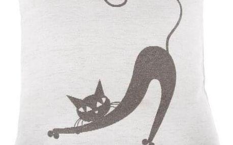 Dakls Povlak na polštářek Kočka bílá, 40 x 40 cm