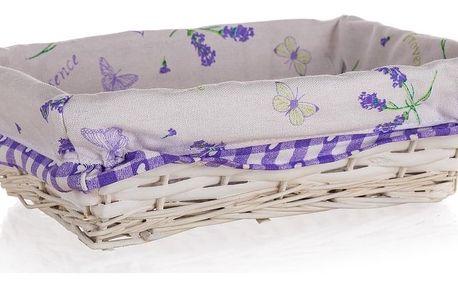 Home Decor Proutěný košík Lavender, 26 x 18 x 7,5 cm