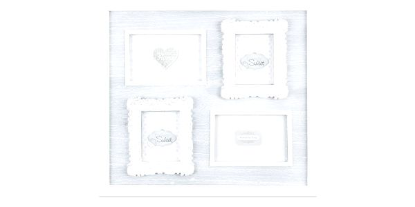 Dřevěný závěsný fotorámeček Melody, 42 x 42 cm