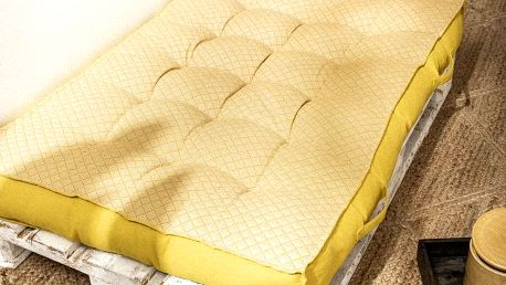 TODAY TODAY GARDEN SPIRIT podsedák na paletu 120x80x15 cm Ceylon Yellow - žlutá