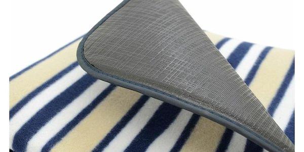 Cattara Pikniková deka Fleece modrá, 150 x 135 cm2