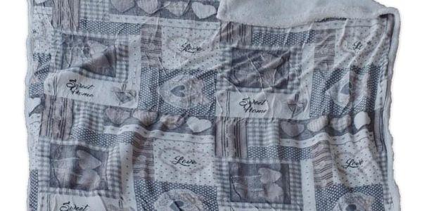 Homeville Homeville srdíčková deka s beránkem HOLLY 140x200cm - šedá/béžová3