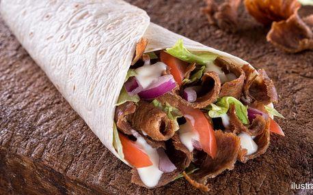 Kebab v tortille, chlebu nebo s hranolky i falafel