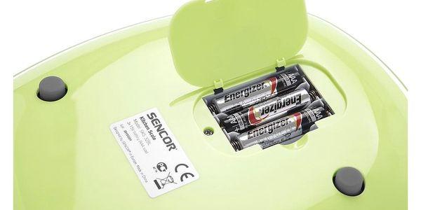 Sencor SKS 37GG kuchyňská váha, zelená3