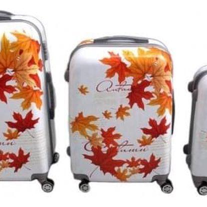 Sada 3 skořepinových kufrů (podzim)
