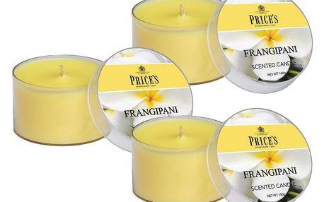 Price´s FRAGRANCE vonné svíčky Frangipani 3ks - hoření 25h
