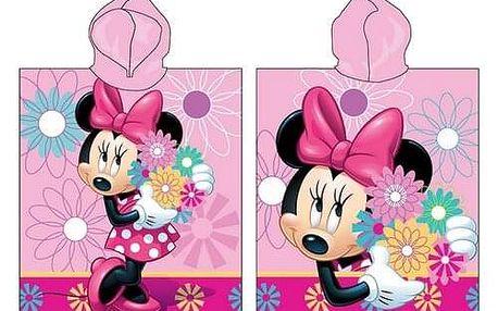 Jerry Fabrics Dětské pončo Minnie Flower 018, 50 x 115 cm