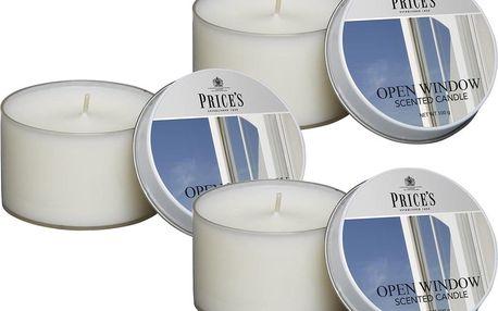 Price´s FRAGRANCE vonné svíčky Otevřené okno 3ks - hoření 25h