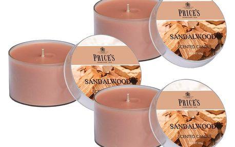 Price´s FRAGRANCE vonné svíčky Santalové dřevo 3ks - hoření 25h