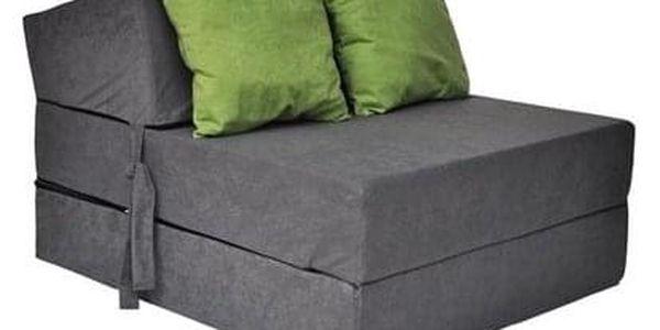 Kvalitní křeslo nebo matrace 70x200x15 cm více barevných variant Zelená