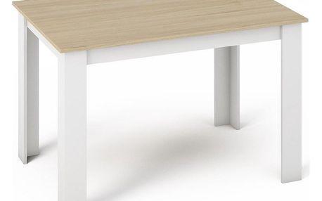 Jídelní stůl MANGA 120x80 sonoma/bílá