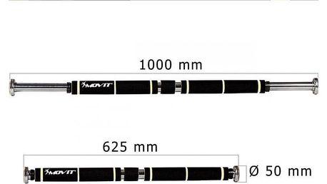 MOVIT® posilovací hrazda, černá/modrá, polstrování