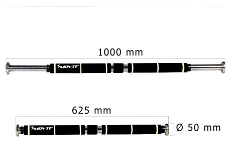MOVIT® posilovací hrazda polstrovaná - černá/bílá