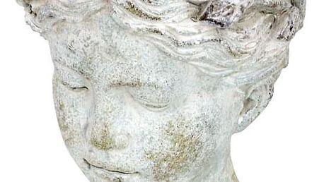 Obal na květiny betonový , tvar hlavy BMO3211