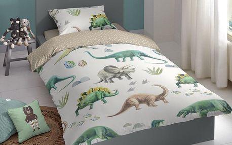 Good Morning Flanelové povlečení Good Morning Dinoland 140x200/70x90 cm