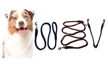 Vodítko české výroby z pleteného lana pro psy
