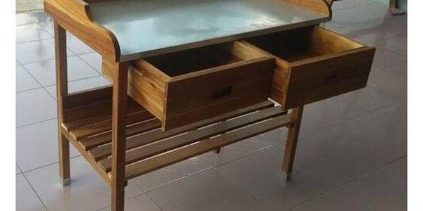 ALDOSRO Grilovací stolek Alan dřevěný2