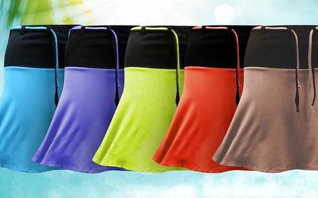 Pohodlné sukně v 7 barvách: tyrkys i růžová