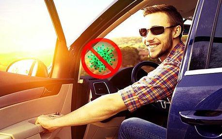 Účinné dezinfekční ozónové čištění osobních automobilů nebo minibusů