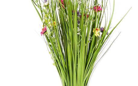 Vazba umělých lučních květin 70 cm, vícebarevná